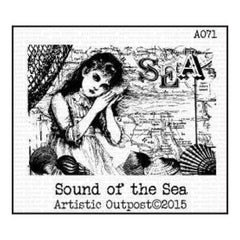 Artistic Outpost Cling Stamps 3.75In. X6in.  - Sound Of The Sea