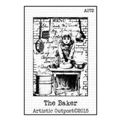 Artistic Outpost Cling Stamps 3.75In. X6in.  - The Baker