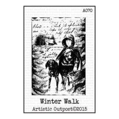 Artistic Outpost Cling Stamps 3.75In. X6in.  - Winter Walk