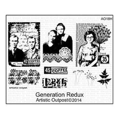 Artistic Outpost Cling Stamps 9In.X7in. Generation Redux