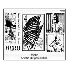 Artistic Outpost Cling Stamps 9In.X7in. Hero