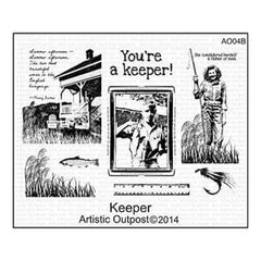 Artistic Outpost Cling Stamps 9In.X7in. Keeper