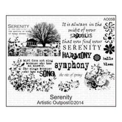 Artistic Outpost Cling Stamps 9In.X7in. Serenity