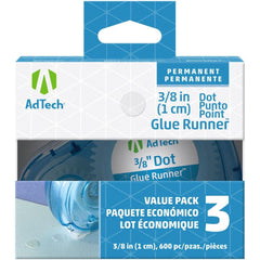 Ad-Tech Permanent Glue Dots 3 pack Clear .375in