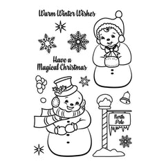 Avery Elle Clear Stamp Set 4 inch X6 inch Frosty Friends