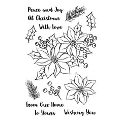 Avery Elle Clear Stamp Set 4 inch X6 inch Holiday Bouquet