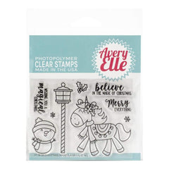 Avery Elle Clear Stamp Set 4inch X3inch Christmas Magic