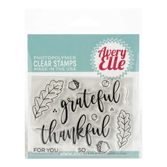 Avery Elle Clear Stamp Set 4inch X3inch Grateful