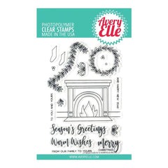 Avery Elle Clear Stamp Set 4inch X6inch Fireside