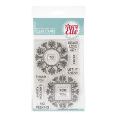 Avery Elle Clear Stamp Set 4inch X6inch Snow Tags