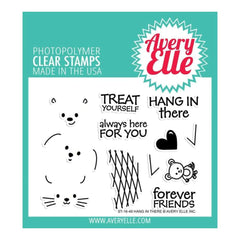 Avery Elle Clear Stamp Set 4X3 inch - Hang In There
