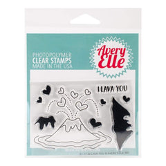 Avery Elle Clear Stamp Set 4X3 inch Lava You