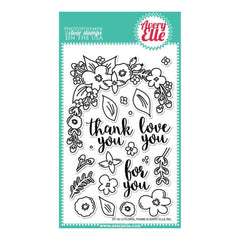 Avery Elle Clear Stamp Set 4X6 inch - Floral Frame