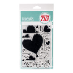 Avery Elle Clear Stamp Set 4X6 inch Love Is In The Air
