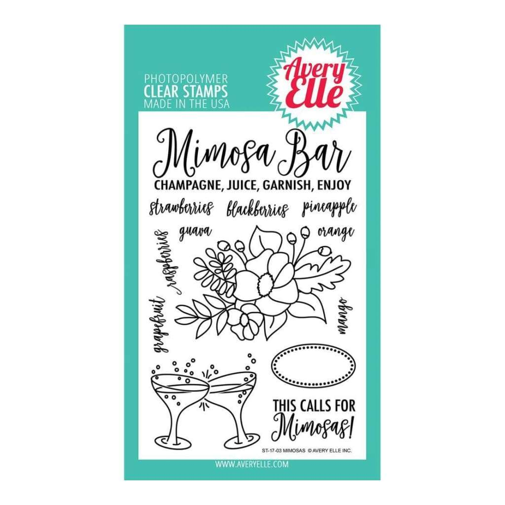 Avery Elle Clear Stamp Set 4X6 inch - Mimosas