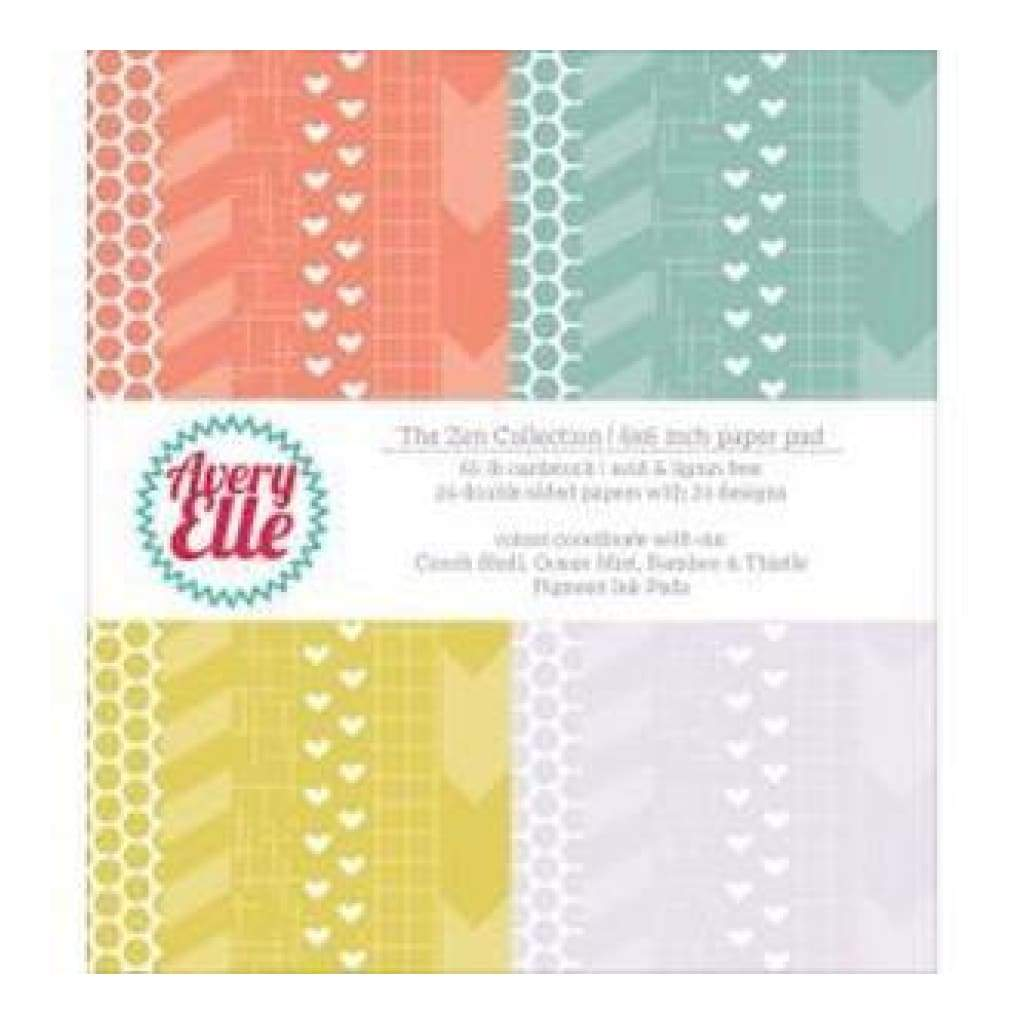 Avery Elle Double-Sided Paper Pad 6In.X6in. 24 Sheets Zen