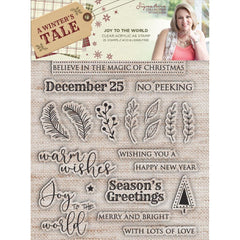 Silver Sara Signature A Winters Tale-Metal Die and Stamp-Words of the Season