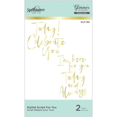 Spellbinders Glimmer Hot Foil Plate - Stylish Script For You