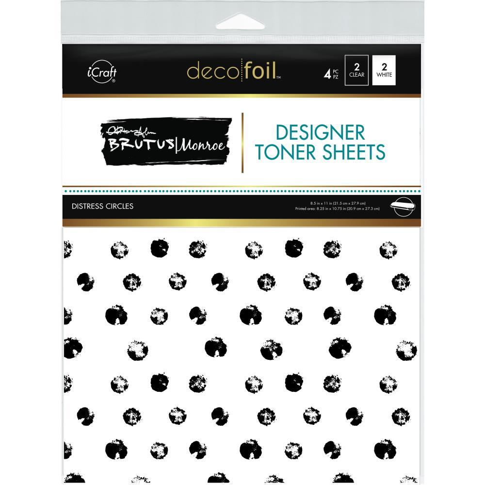 Brutus Monroe Deco Foil Toner Sheets 8.5inch X11inch 4 pack - Distress Circles