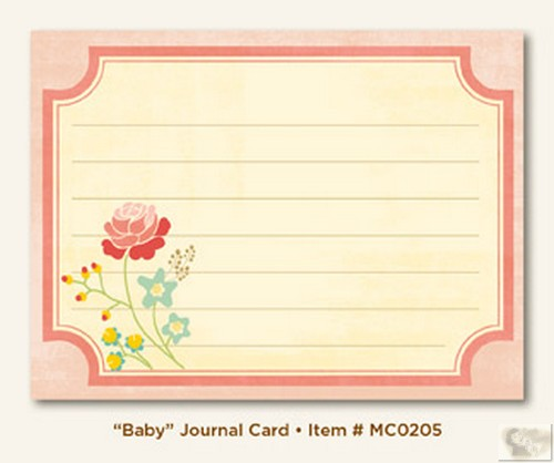 My Mind's Eye - Miss Caroline - Howdy Doody - Baby Journal Card