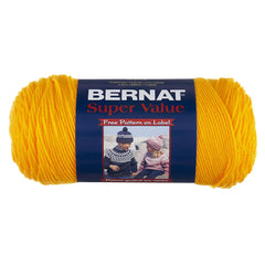 Bernat Super Value Solid Yarn - Yellow - 7oz (197g) 426yd