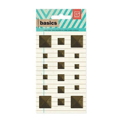 Basic Grey - Basics - Metal Studs - Brass Squares