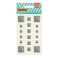 Basic Grey Basics Silver Square Studs