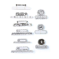 Basicgrey - Basic White Collection - Office Tabs - Self Adhesive Paper Labels