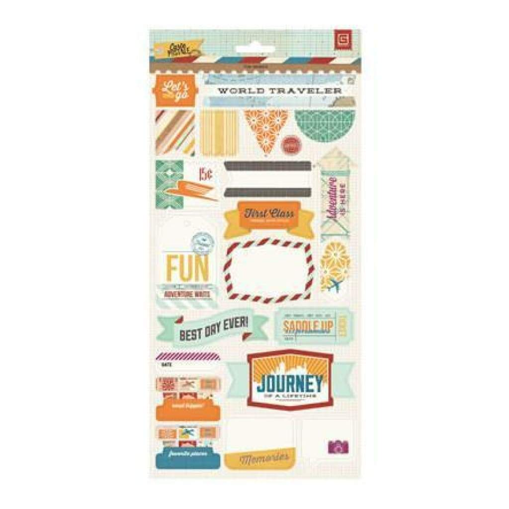 Basicgrey - Carte Postale - Title Stickers  (Pack Of 6)