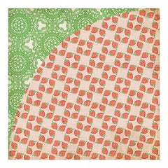 Basicgrey - Nook & Pantry - Strawberry Shortcake 12X12 D/Sided Paper (Pack Of 10)
