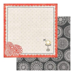 Basicgrey - Paper Cottage - Hibiscus Tea 12X12 D/Sided Paper (Pack Of 10)