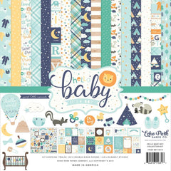 Echo Park Collection Kit 12 inch X12 inch Hello Baby Boy