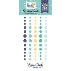Echo Park Hello Baby Boy Enamel Adhesive Dots 60 pack
