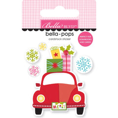 Bella Blvd Santa Squad Bella-Pops 3D Stickers - Home For Christmas