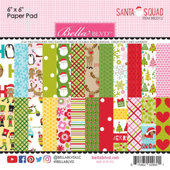 Bella Blvd Double-Sided Paper Pad 6 inchX6 inch 24 pack - Santa Squad, 12 Designs/2 Each