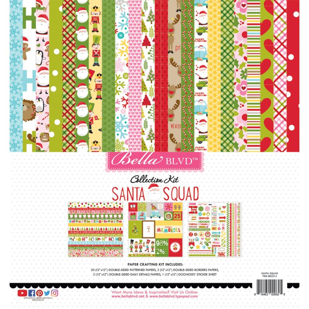 Bella Blvd Collection Kit 12 inchX12 inch - Santa Squad