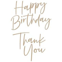 Spellbinders Glimmer Hot Foil Plate - Stylish Script Thank You/Happy Birthday