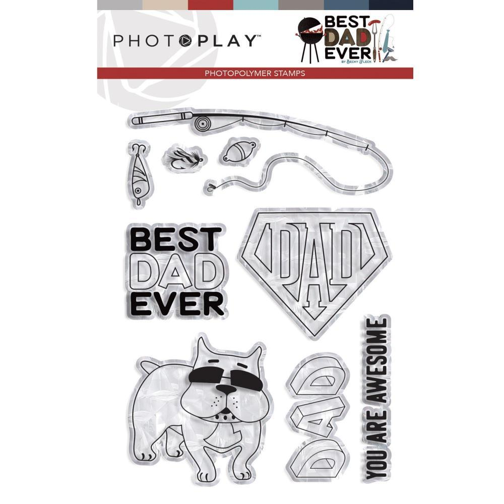 PhotoPlay Photopolymer Stamp Best Dad Ever