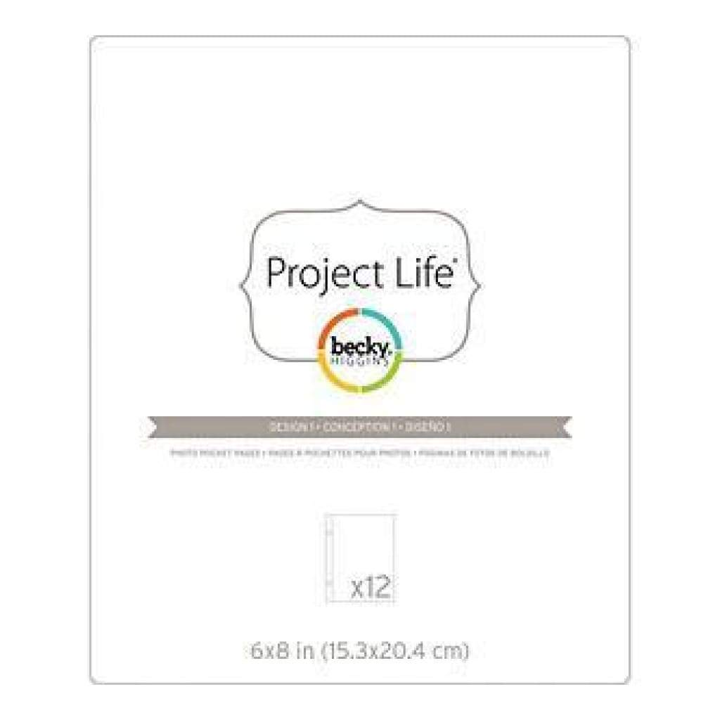Becky Higgins - Project Life Photo Pocket Pages 6X8in.  12/Pkgin.