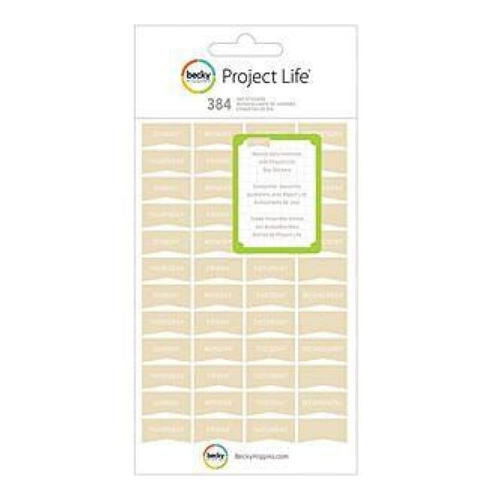 Becky Higgins - Project Life - Project Life Tan Sticker Sheets 8Pack