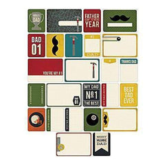 Becky Higgins - Project Life - Themed Cards 40 Pack - Dad