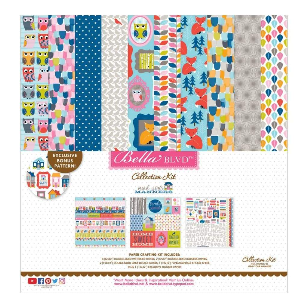 Bella Blvd Collection Kit 12inch X12inch Mind Your Manners