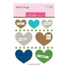 Bella Blvd Legacy Heart Hugs Embellishments 7 pack Earth