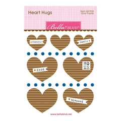 Bella Blvd Legacy Heart Hugs Embellishments 7 pack Give Thanks