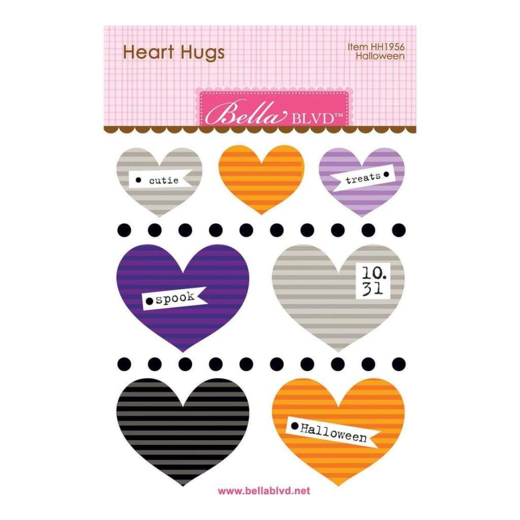 Bella Blvd Legacy Heart Hugs Embellishments 7 pack Halloween