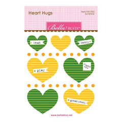 Bella Blvd Legacy Heart Hugs Embellishments 7 pack Sunshine