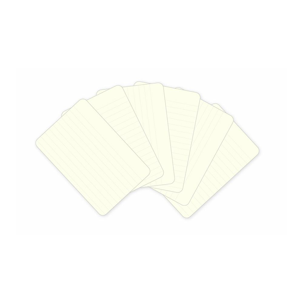 Project Life 3 X 4 inch Textured Cardstock 100 per pack - Lined - Cream
