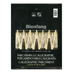 Bienfang Calligraphic Parchment Paper Pad 8.5 inch X11 inch Gold 50 Sheets