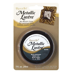 Deco Art - Metallic Lustre Wax Finish 1oz - Black Shimmer