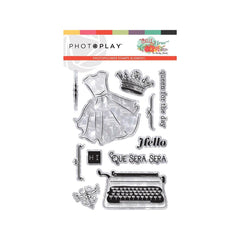 Photo Play Paper - Photopolymer Stamp Belle Fleur Element
